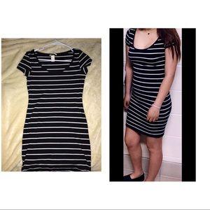 Dresses & Skirts - Navy and white stripe dress
